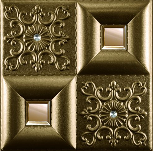 3D Embossed PU Wall 1042 Decoration Panel