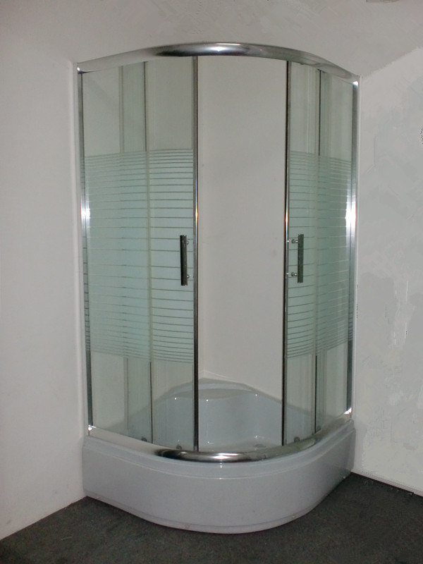 China Low Price Chromed Sliding Obstacle Glass Shower Cubicle Size ...