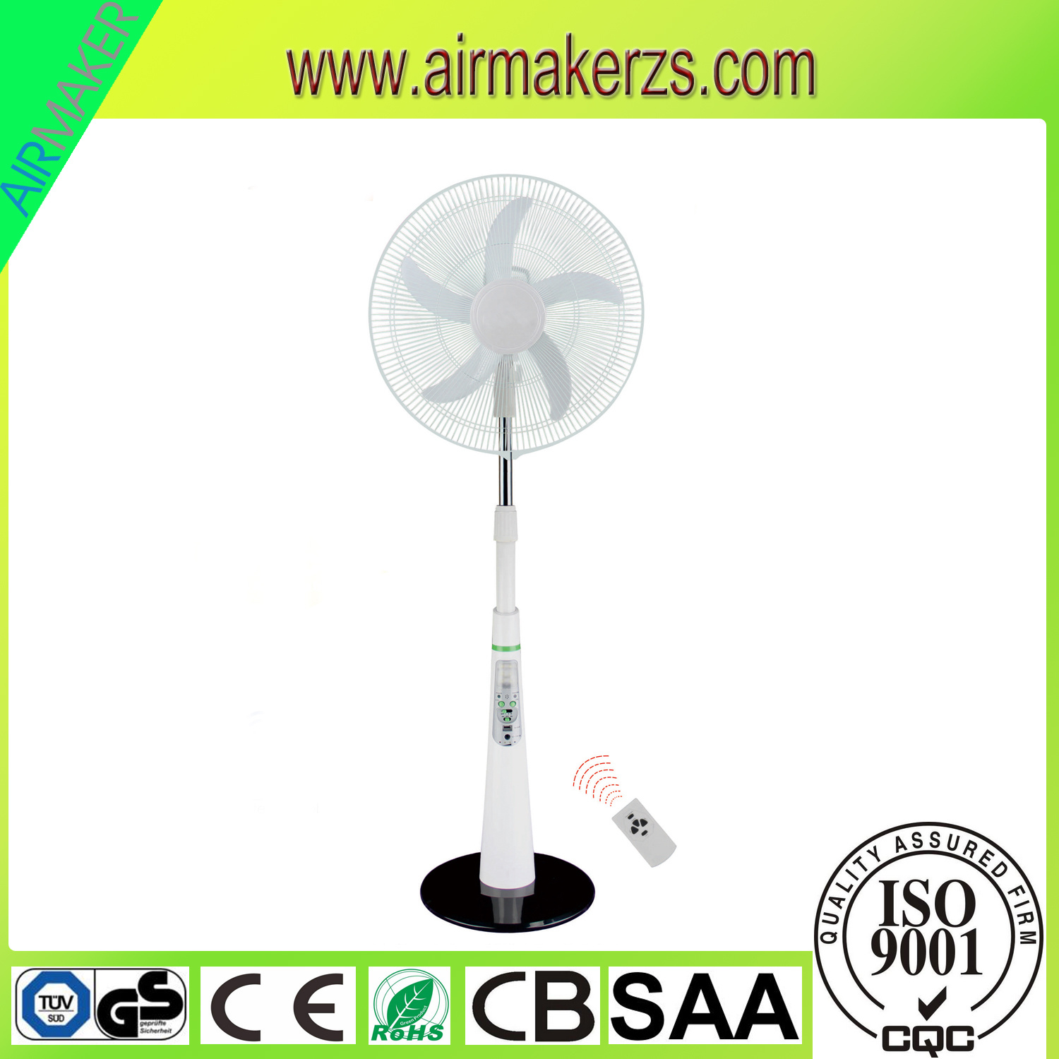 "18"" 5 Blades AC/DC Emergency Stand Fan with Mobile Charger pictures & photos"