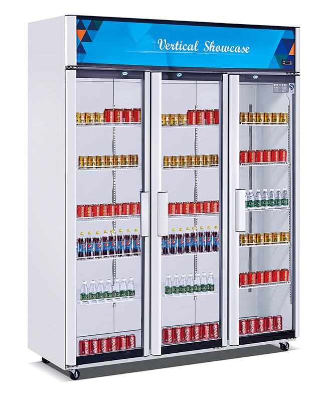 China Astar Hg 1100c 3 Door Glass Commercial Upright Supermarket
