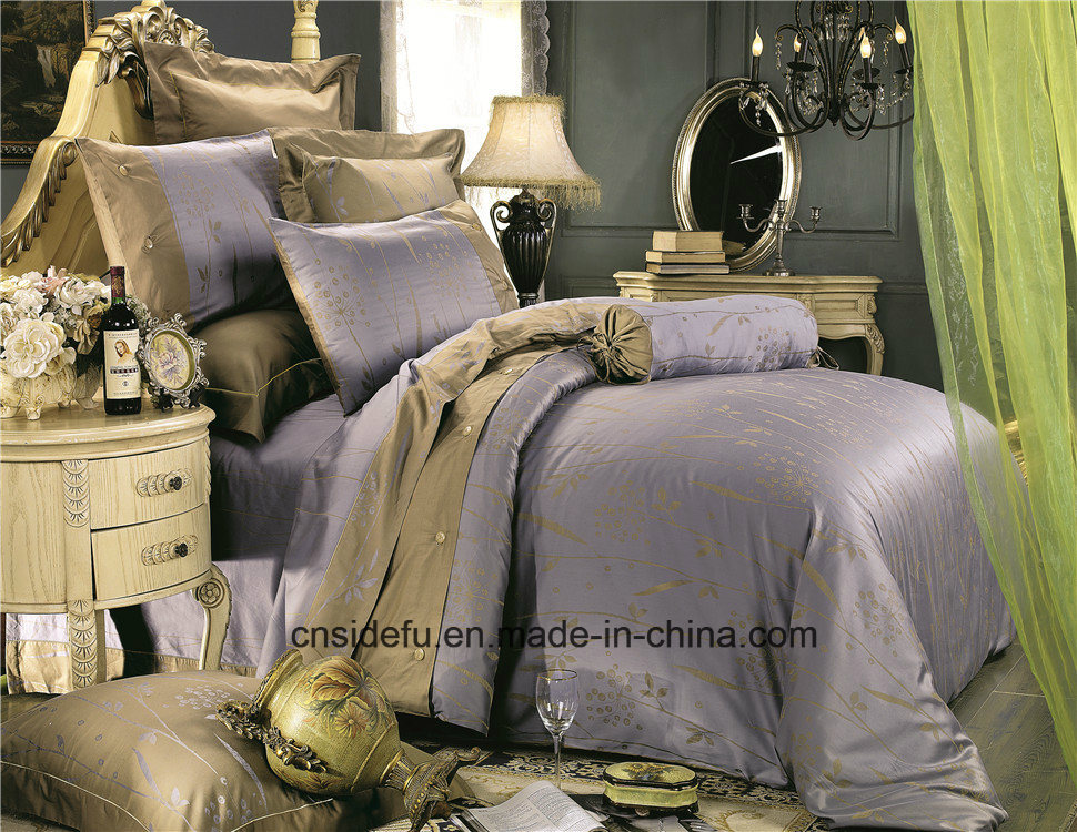 China Luxury Silky Home Used Embroidery Design Linen Bed Sheets