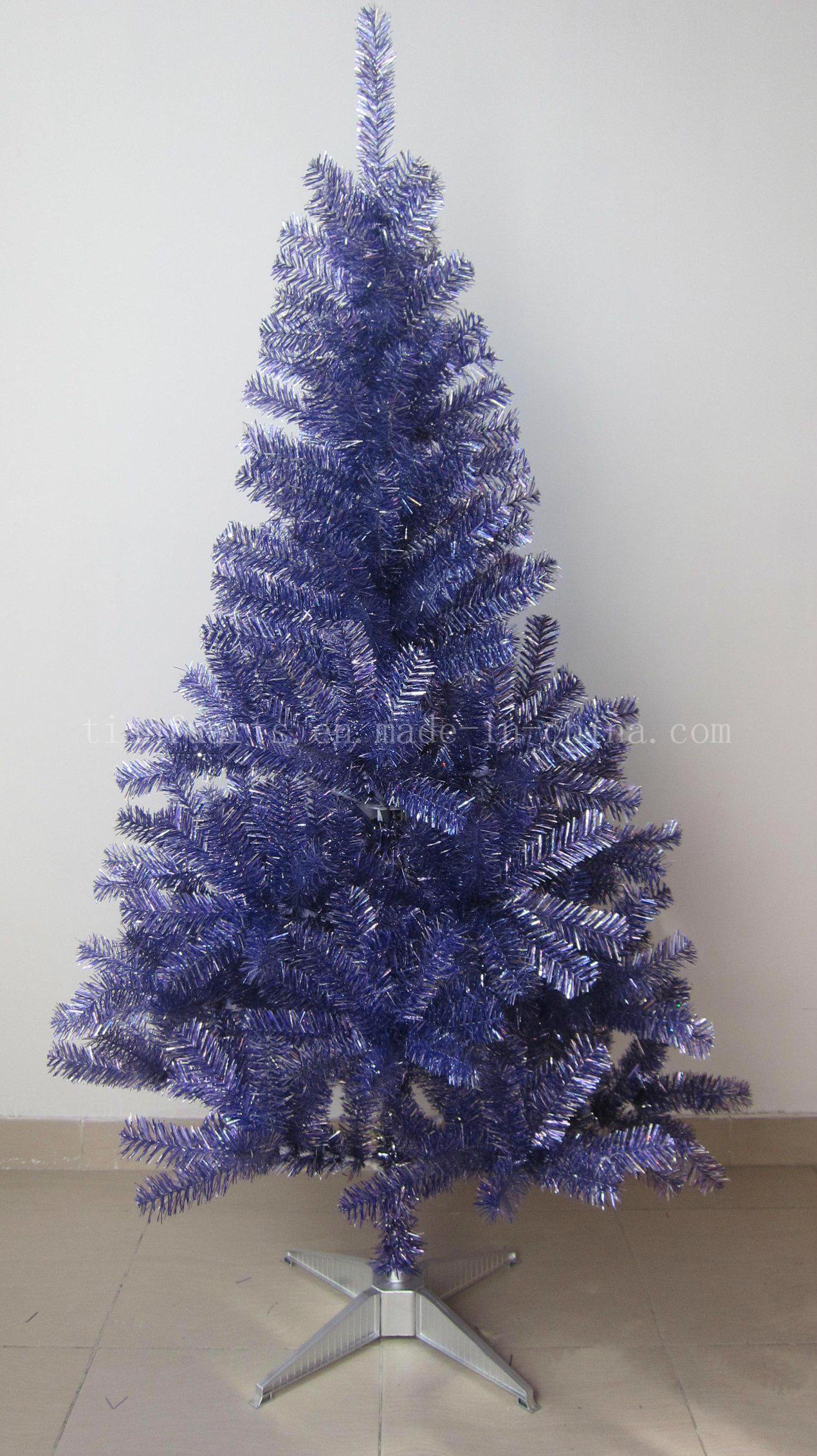 china 15m christmas tinsel treeholographic silverpurple china christmas tinsel tree artificial christmas tree