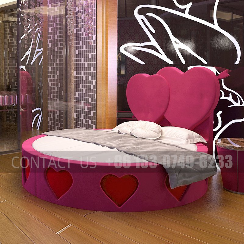 China Luxury Classic King Size Round Bed Designs Sex Bed For Hotel