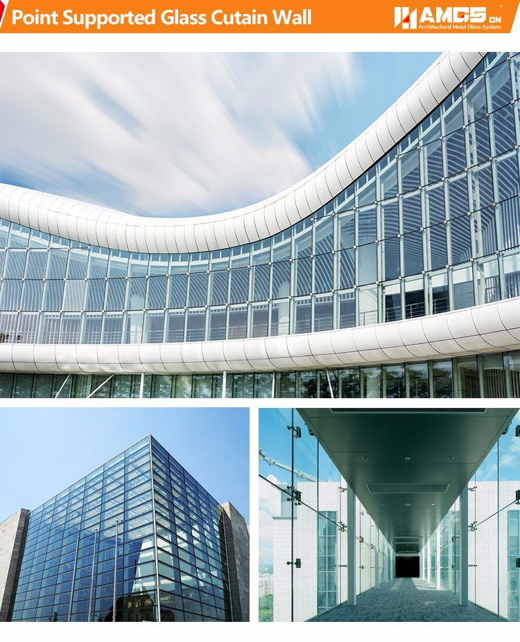 Commercial Morden Building Exterior Aluminum Panel Aluminum Frame Glass Curtain Wall pictures & photos