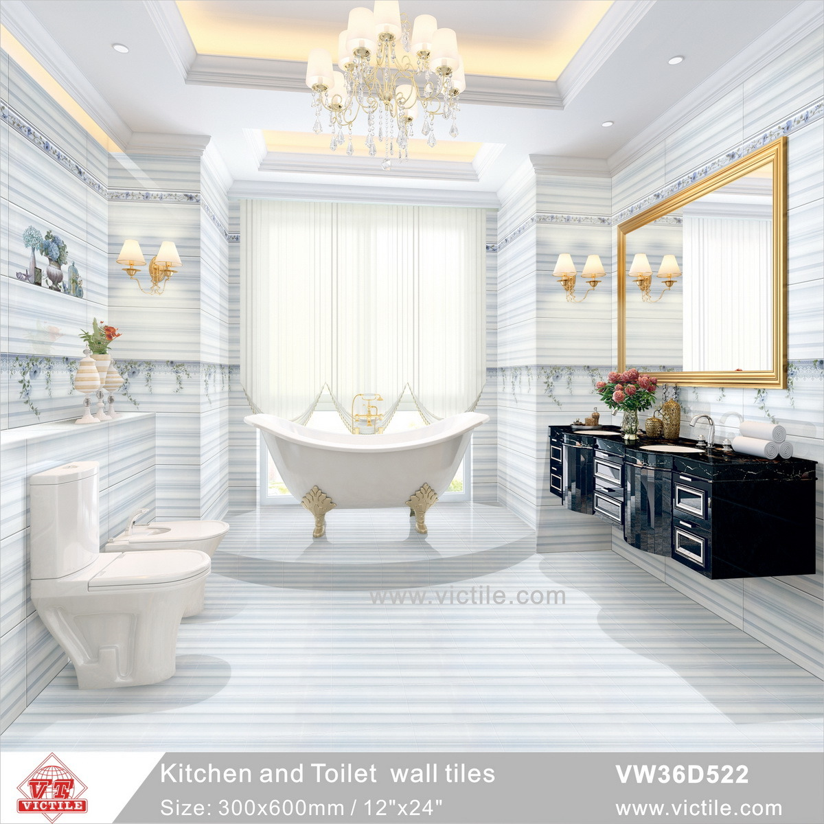 China Decoration Material Ceramic Kitchen Bathroom Simple Green Wall ...