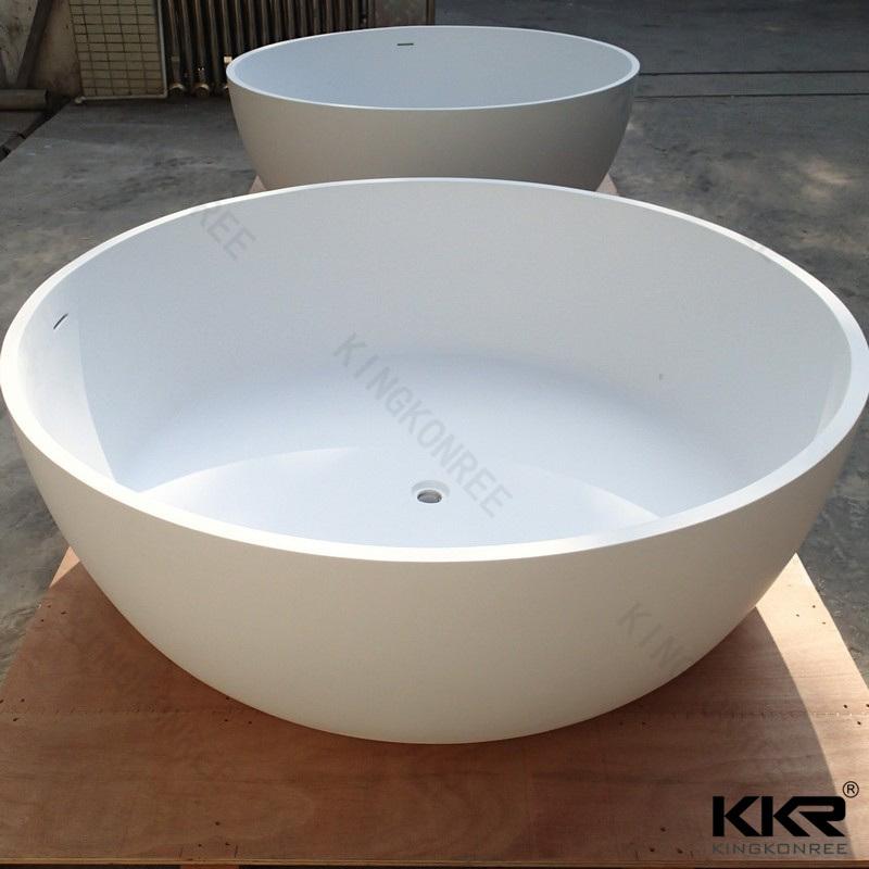 China Acrylic Solid Surface Stone Freestanding Round Corner Bathtub ...