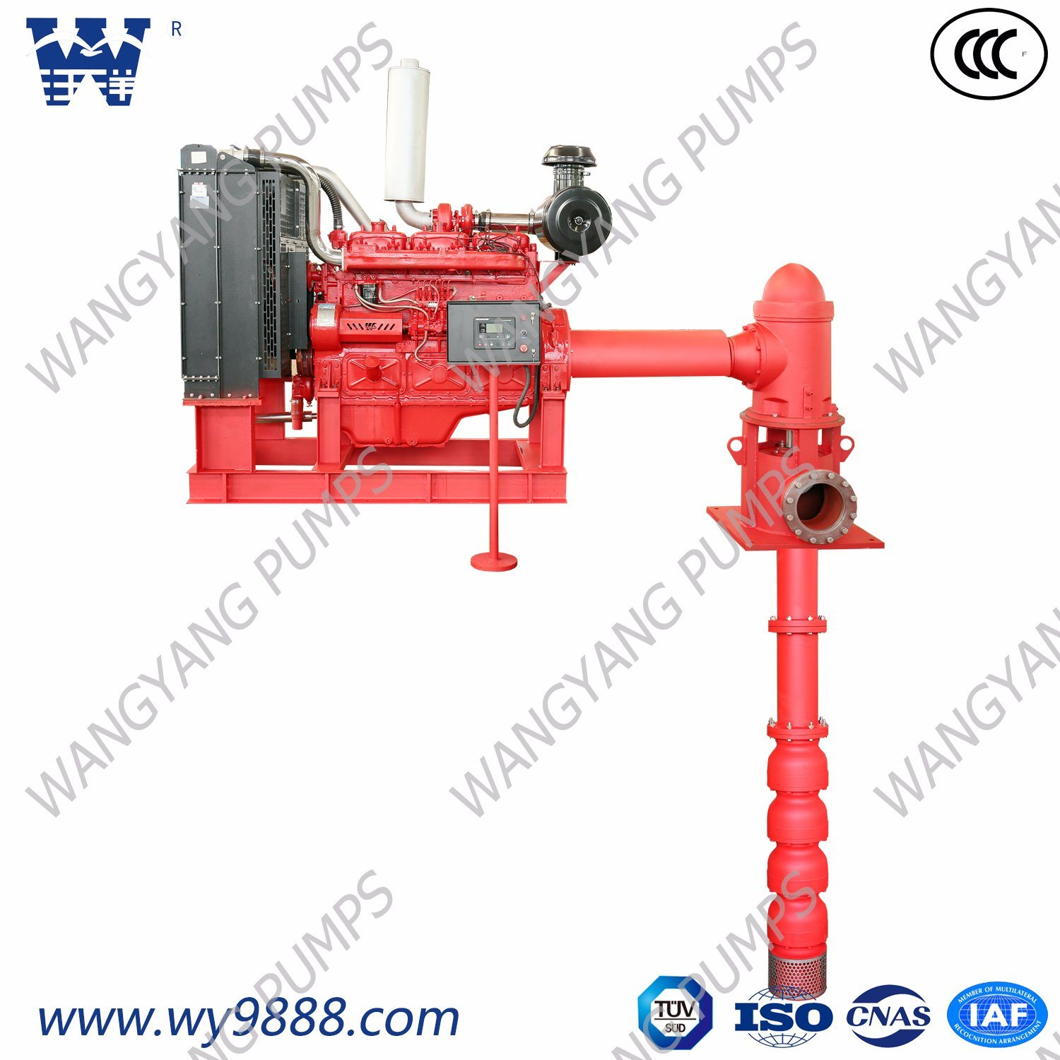 China Diesel Engine Deep Well Vertical Turbine Fire Fighting Pump