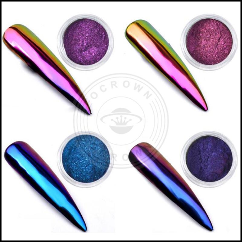 China Unicorn Neon Chameleon Chrome Mirror Acrylic Nails Art Pigment ...