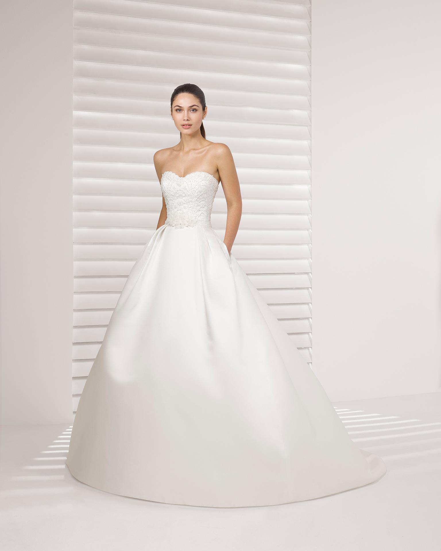4802a5125a9c China Beading Lace Top with Long Sleeve Bolero Jacket Pocket Satin Wedding  Dress - China Wedding Dress, Dress