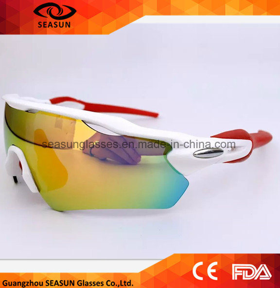 Polarized Mountain Bike Cycling 3 Lenses Sunglasses Fashion UV400 Sports PC Road Goggles Protect Eyes Muti-Colors Sun Shades