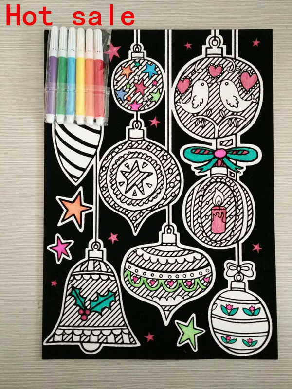 [Hot Item] Customized Velvet Fuzzy Coloring Posters with Washable Supertip  Markers