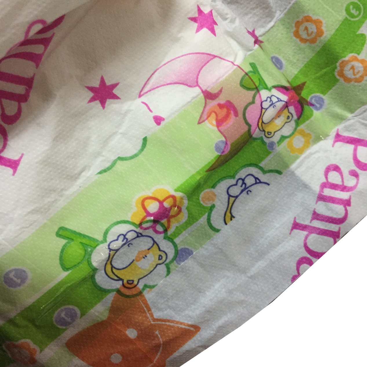 PE Film PP Tapes Baby Diaper in Plastic Polybag