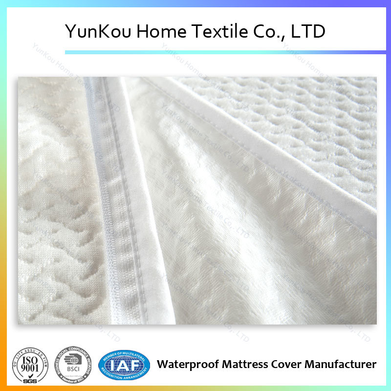 Bamboo Fiber Knitting Jacquard Mattress Encasement with Zipper