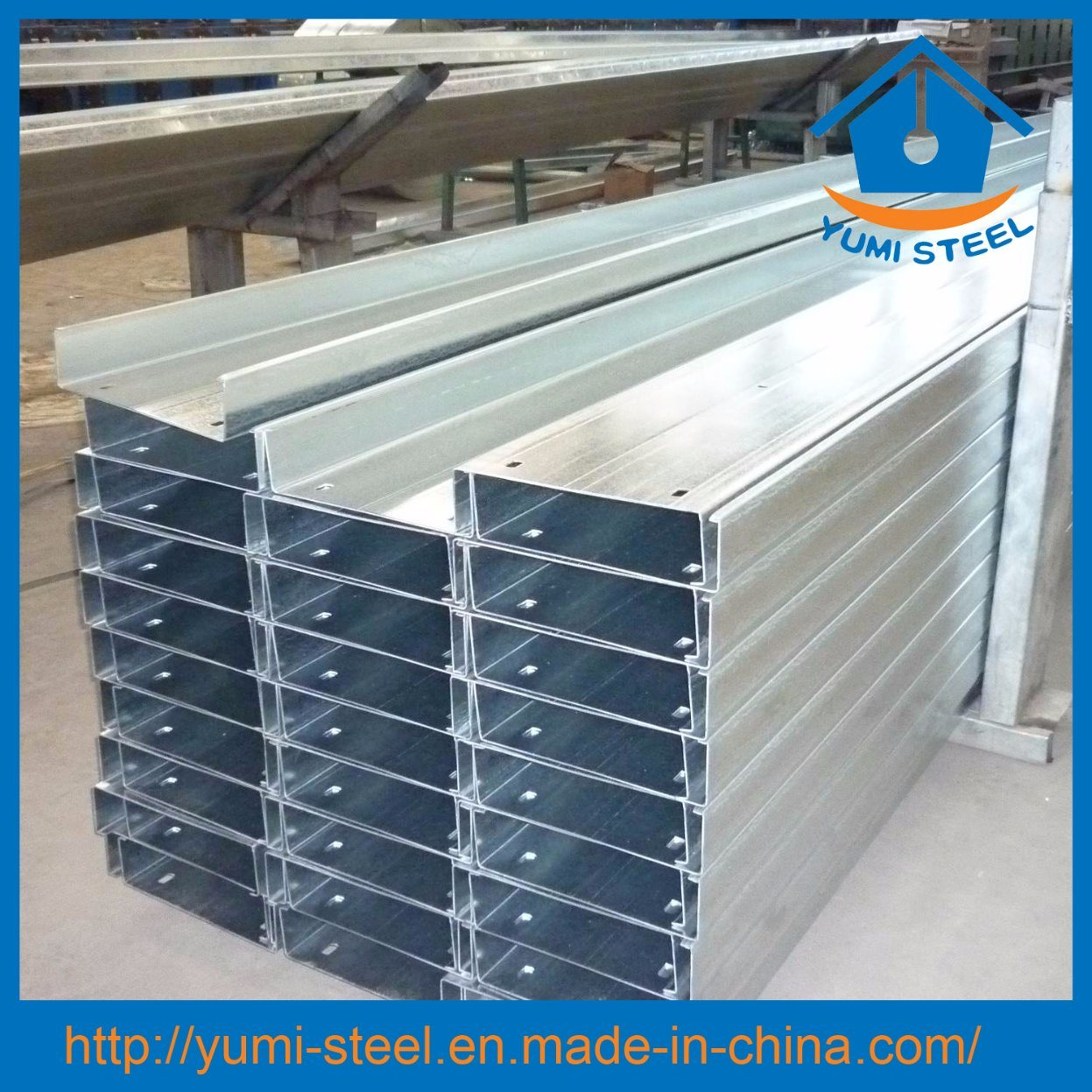 China High Strength Galvanized Steel C Purlin Section