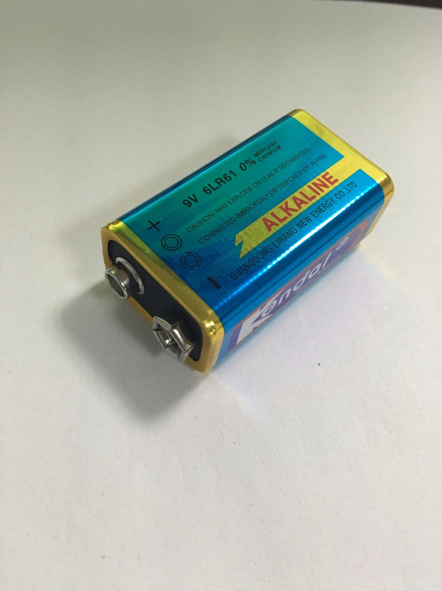 9V 6LR61 Alkaline Battery