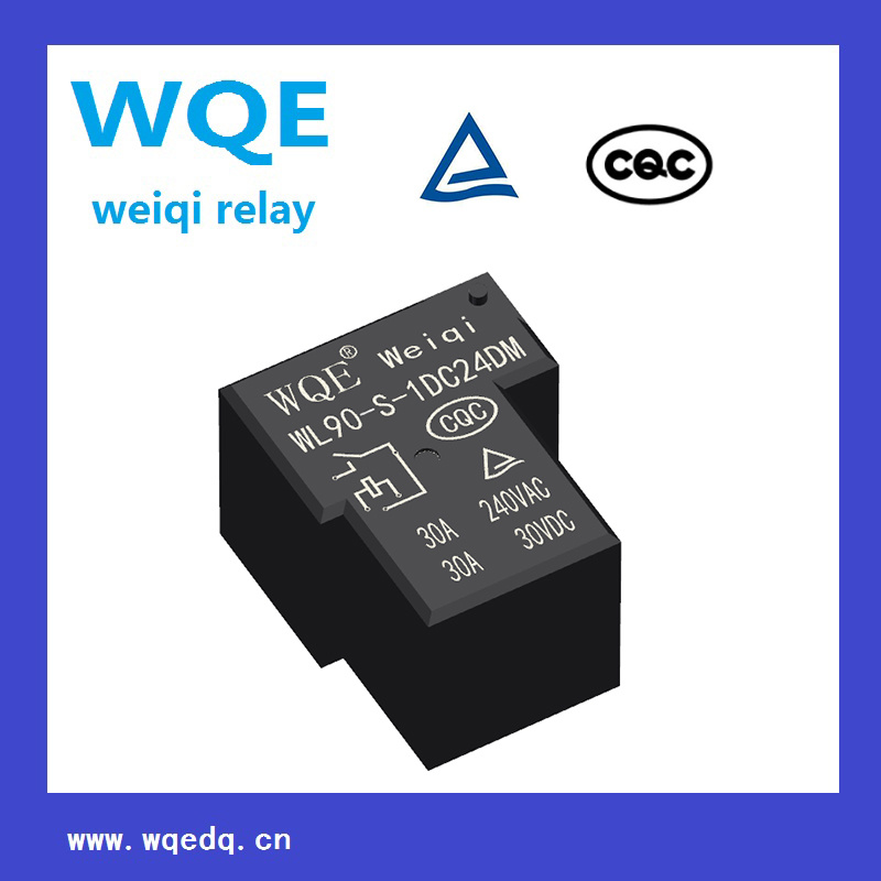 Miniature Power Relay for Industrial&Household Appliances Black Cover PCB Relay
