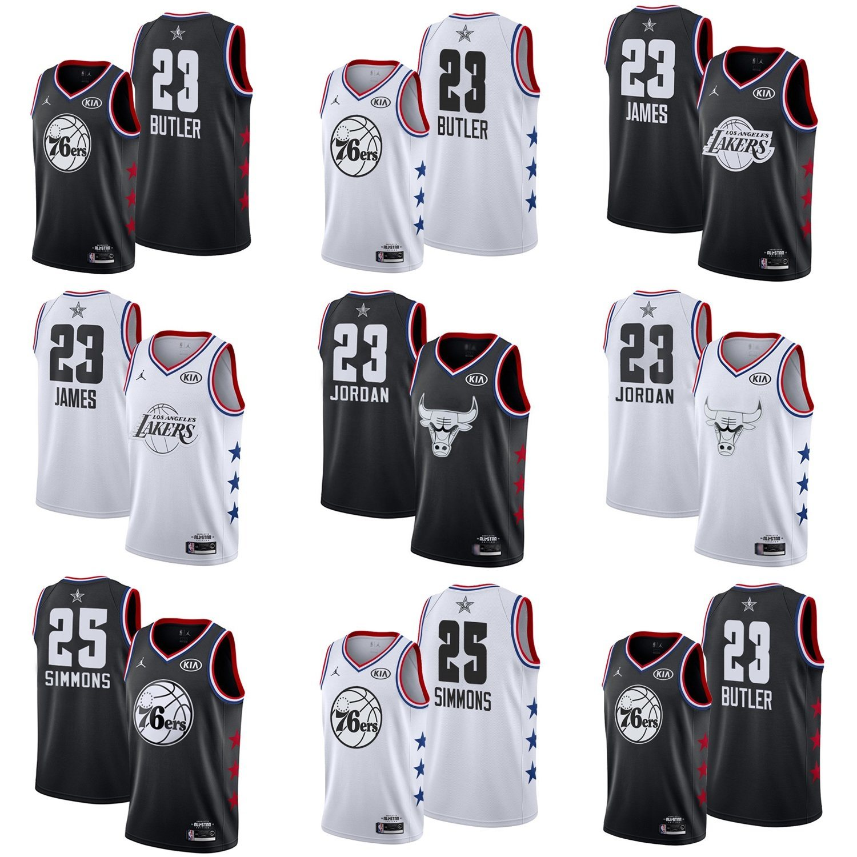 new concept 70345 2fda0 [Hot Item] 2019 All-Star Jimmy Butler Michael Jordan James Simmons  Basketball Jerseys
