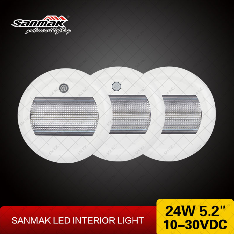 24W 5.2inch Round LED Interior Lights Sanmak New Ceiling Light pictures & photos