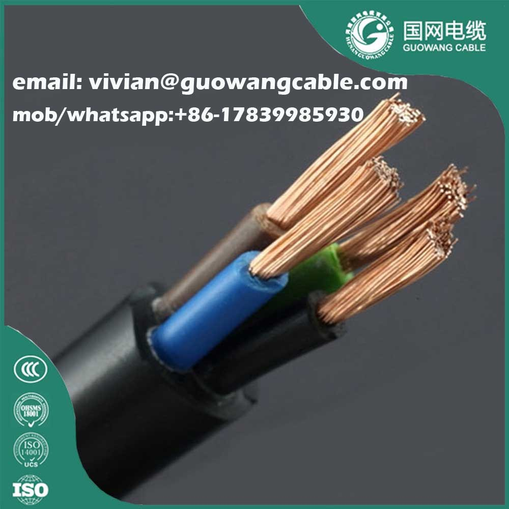 China 450/750V Yc H07rn-F Rubber Insulated Cable 3 Cores Cu/Epr/CPE ...