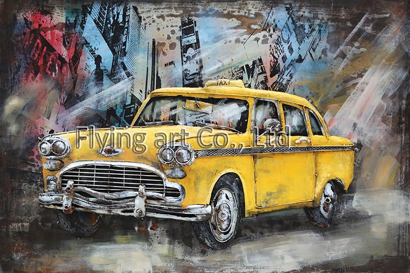 China Oil Painting 3 D Metal Wall Decor for Sports Car Photos ...
