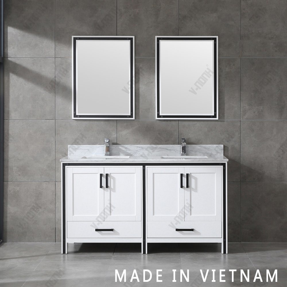 China 60inch Modern Style Double Sinks, Bathroom Vanity Freestanding Sink