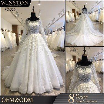 China Crystal Bridal Ball Gowns Long Sleeves Beading Sparkle Wedding Dress  - China Dress 04a2ab1eb65d