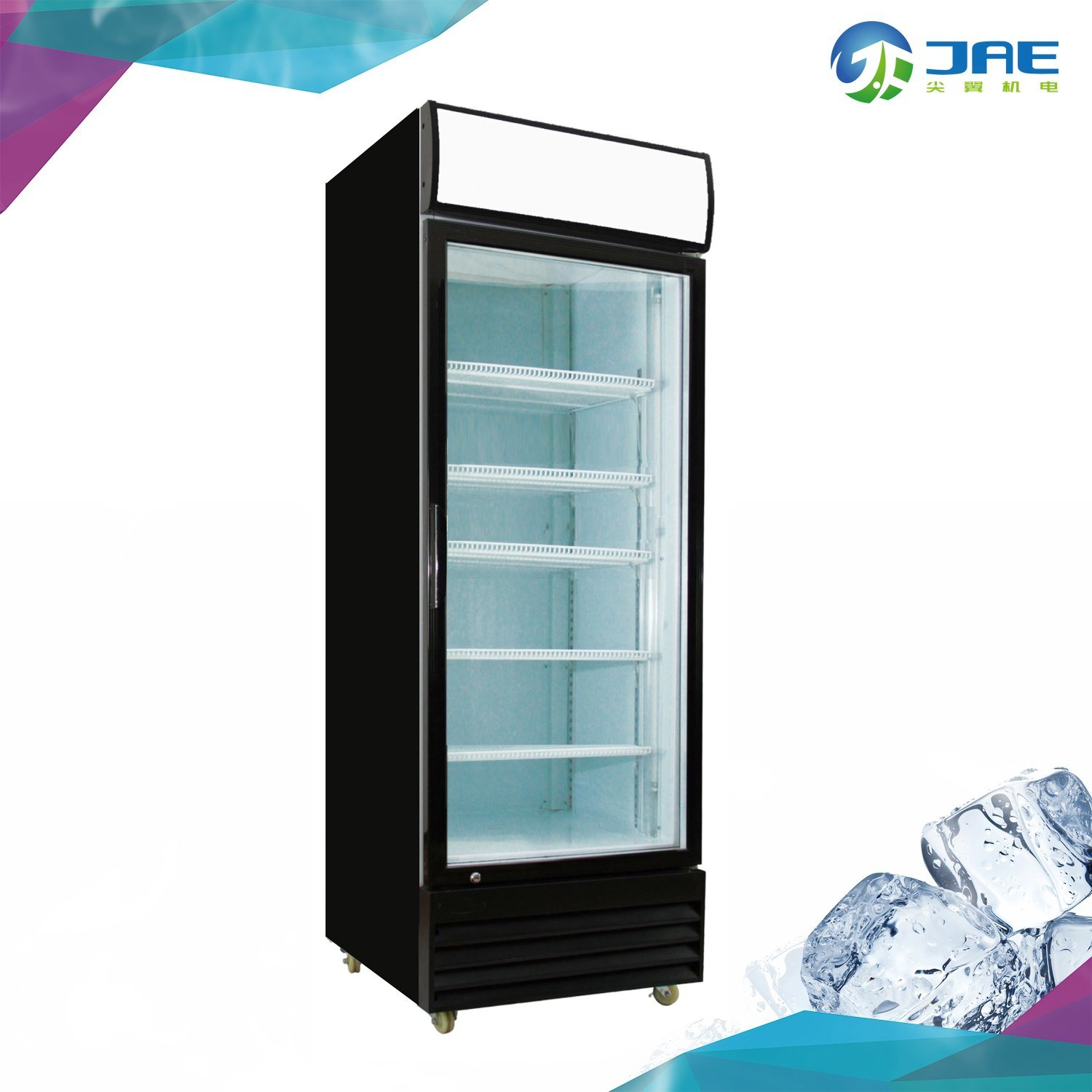China Commercial Upright Fridge With Single Glass Door China