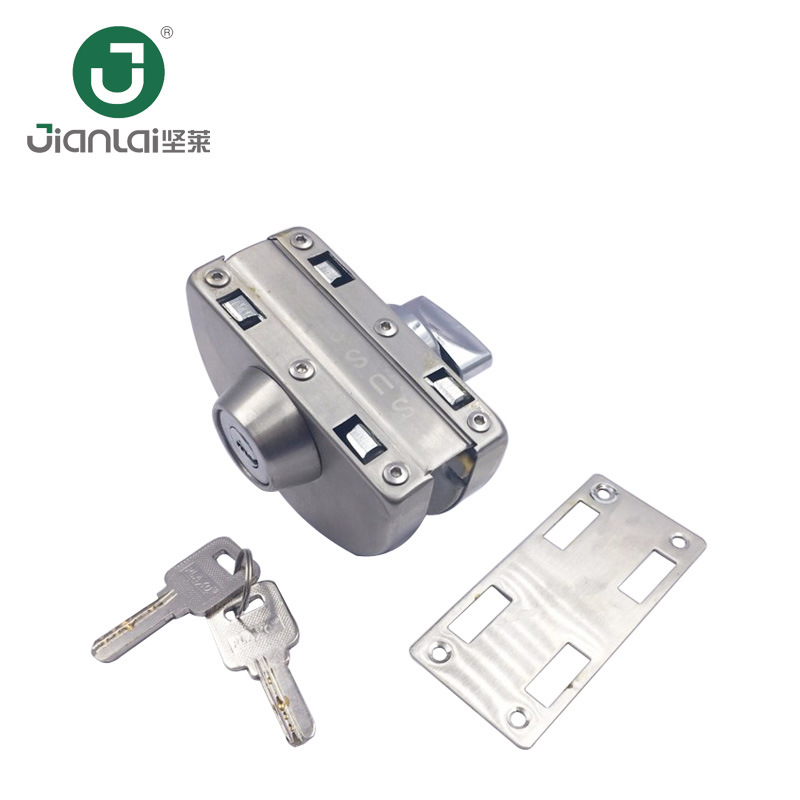 China Security System Customized Center Lock For Glass Door Fitting Stainless Steel