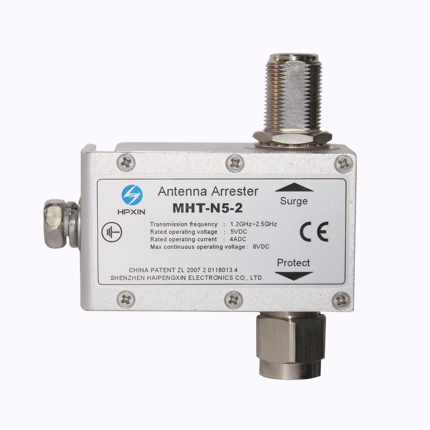 China Hpxin MHT-N5-2 Antenna Feeder N Type Connector Surge
