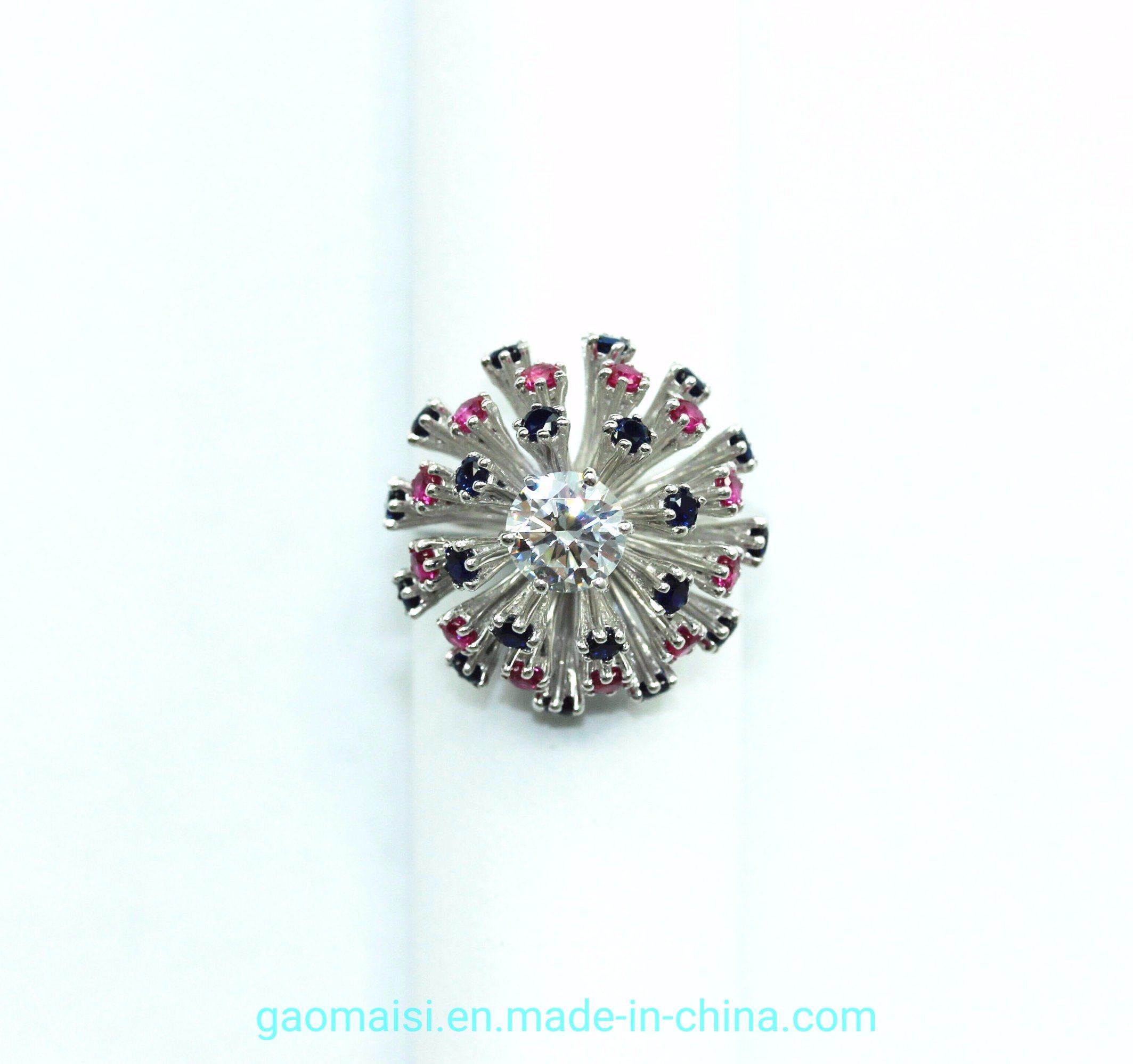 Flower ring 925 silver