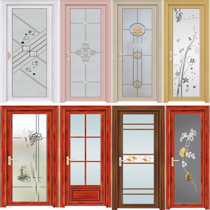 . Hot Item  New Aluminum Toilet Door Aluminium Window Doors House Bathroom  Door Price
