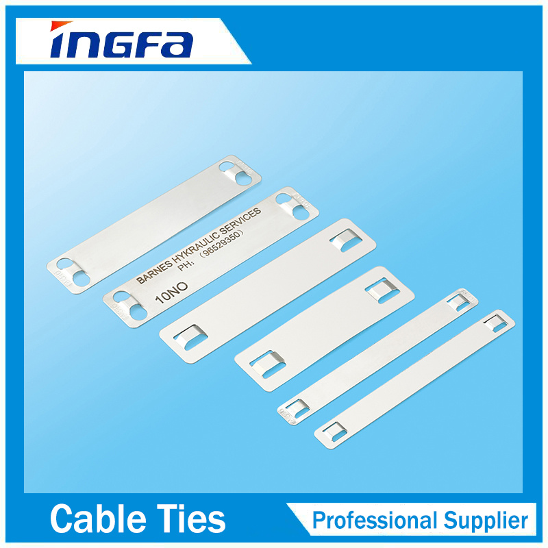 [Hot Item] Stainless Steel Label Metal Name Tag Plate Cable Marker