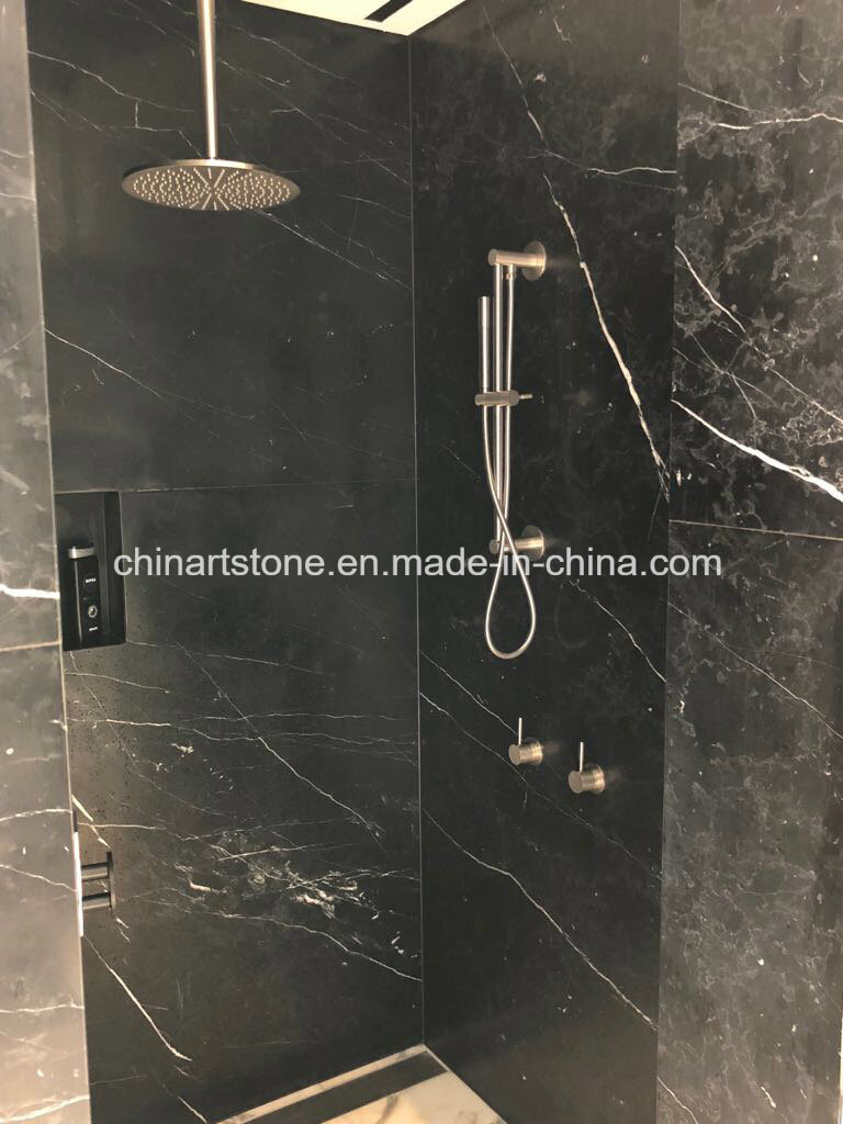 Black Marble Tile For Bathroom Wall