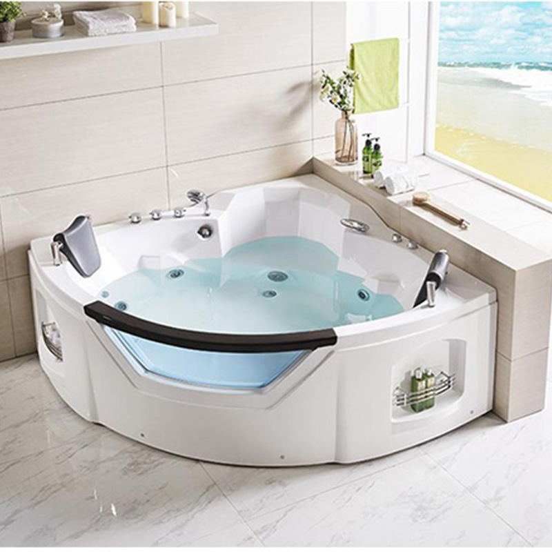 China Indoor Two Persons Corner Hot Tub Spa Bathtub Acrylic Massage Whirlpool Jacuzzi China Bathtub Whirlpool Bathtub