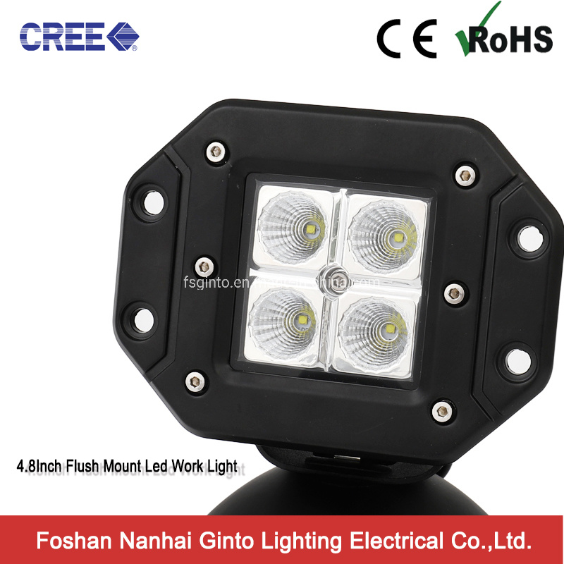 Hot Item Flush Mount Cree 12v Offroad 16w 4 8inch Led Cube Work Light For Truck Car Jeep Offroad Gt1022a 16w