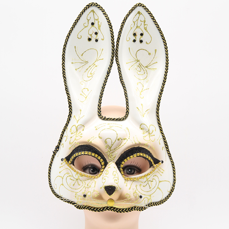 China Glitter Gold Scroll Bunny Mask for Ball Prom - China Party Mask, Glitter  Bunny