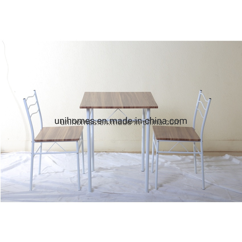 China 3 Piece Space Saving Dining Table Set With Wood Look Top Table And Chairs For Kitchen China Small Dining Table For 2 2 Seater Dining Table