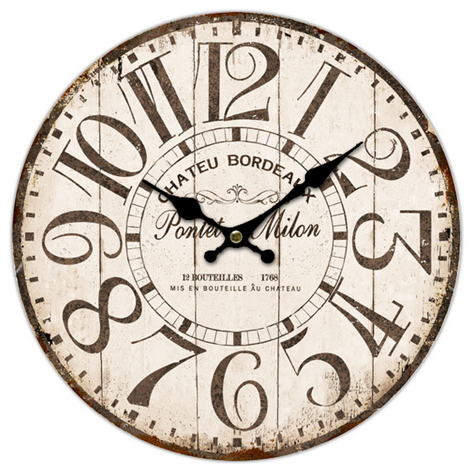 Rustic Wooden Handicraft Wall Clock