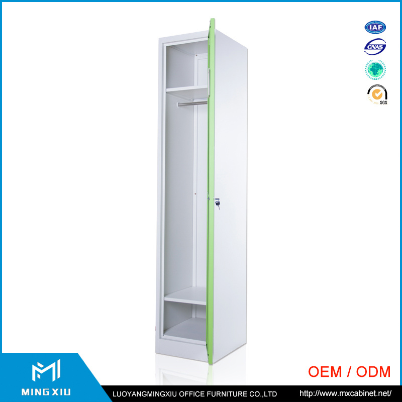 Luoyang Mingxiu Single Door Steel Cabinet Clothes Locker /Metal Wardrobe Locker pictures & photos