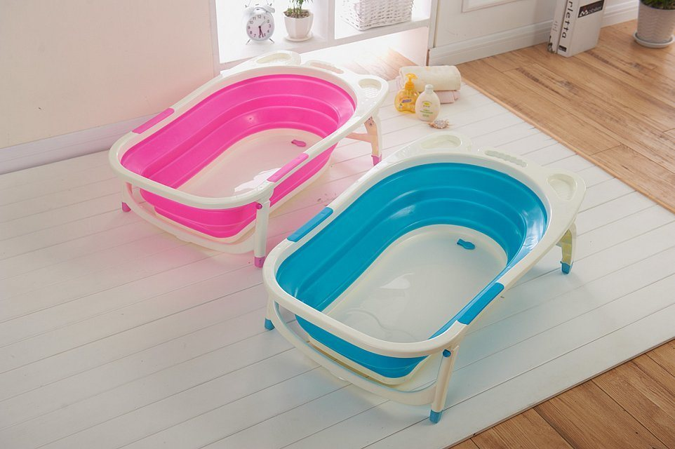 China Foldable Baby Bath with Drain Plug and 4 Supporting Legs ...