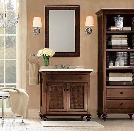 China Solid Wood Bathroom Cabinet Vanity Jz006 China