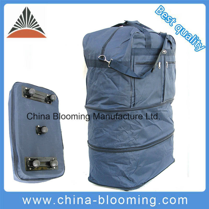 Hot Item Lightweight Travel Outdoor Rolling Wheeled Duffle Bag Expandable Suitcase Luggage