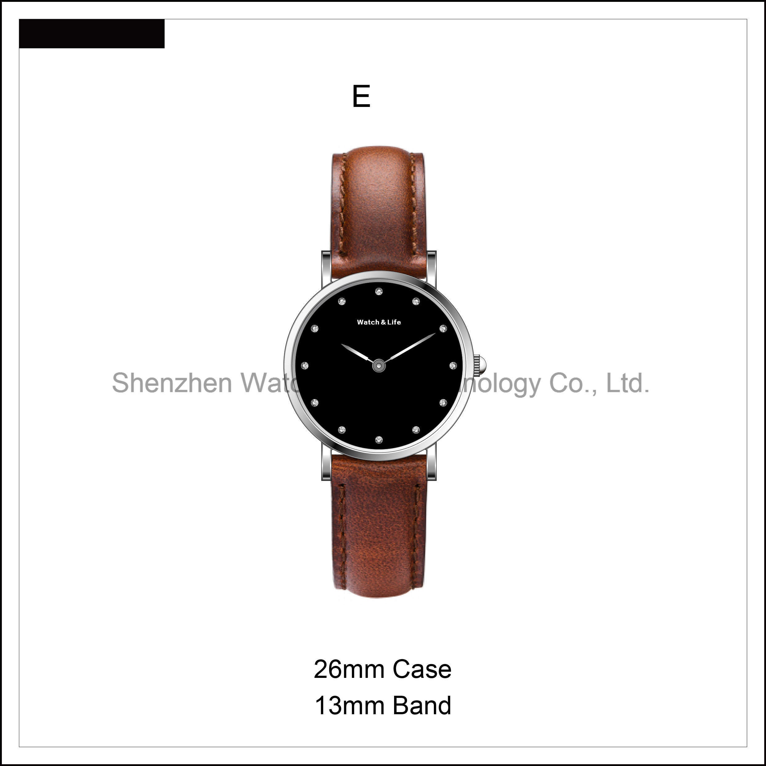 Simple Fashion Stainless Steel Case Couple Leather Strap Watches Nato D Style Wrist Watch