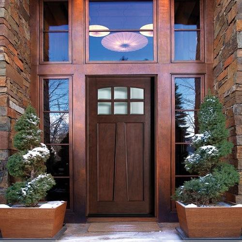 China Hot Sale Craftsman Solid Wood Exterior Doors China Solid