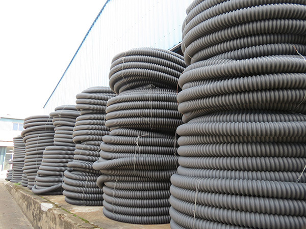 HDPE Corrugated Cable Casing Pipes for Telephone Cable Duction pictures & photos