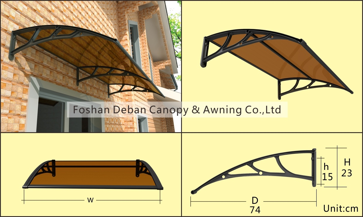 Aluminum /Polycarbonate Awning for Doors and Windows /Sunshade