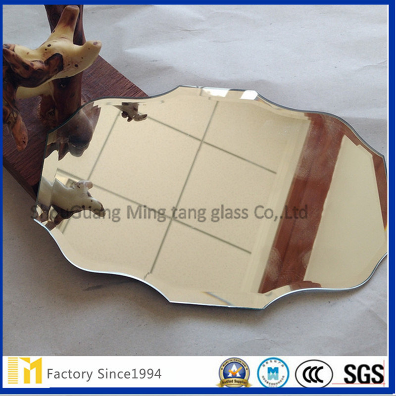 China 3mm 4mm Clear One Side Frosted Acid Etched Aluminum Mirror With Safety Backing Glass