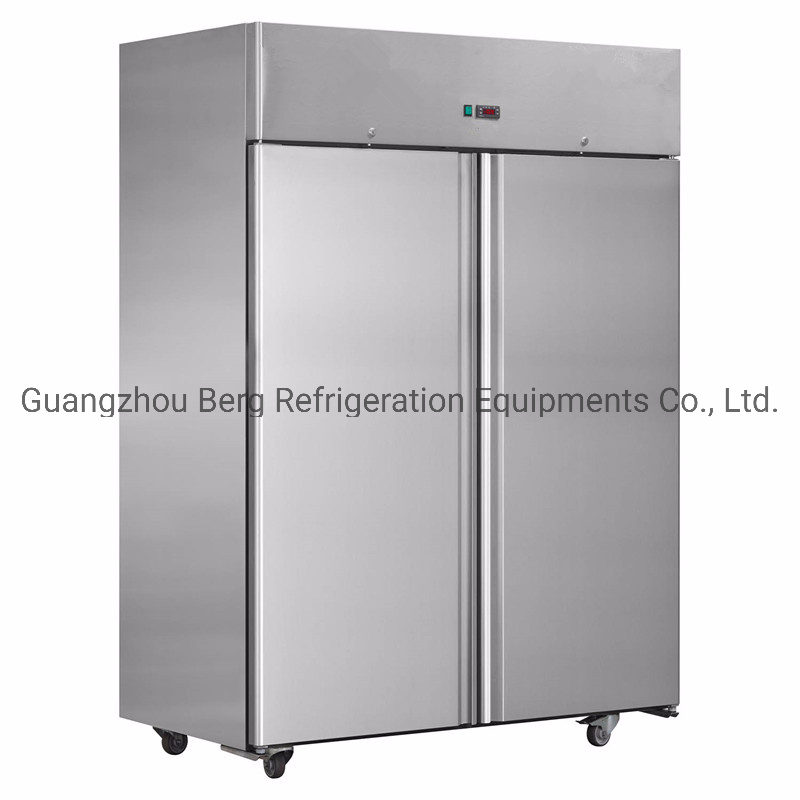 China Stainless Steel Gn Upright Refrigerator With 2 Big Door Upright Freezer China Stainless Steel Freezer And Upright Freezer Price