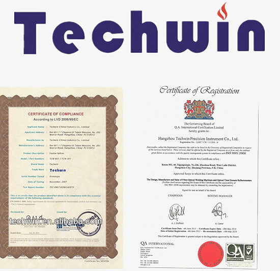 Techwin Brand Single Mode OTDR Equal to Exfo Test OTDR Dynamic Range 30/28dB pictures & photos