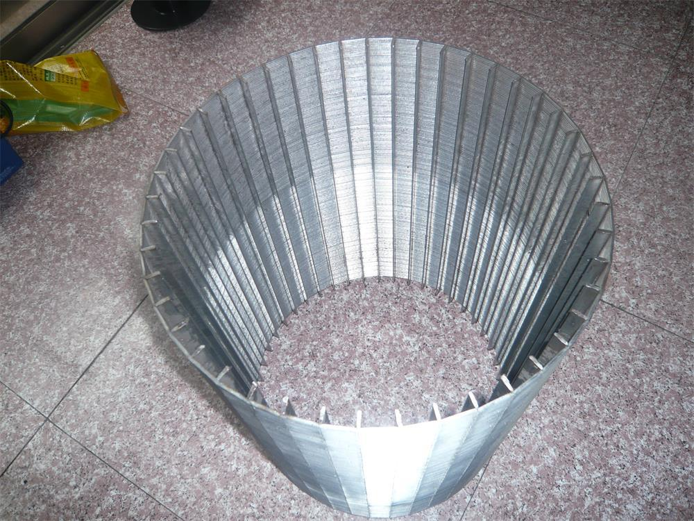 China Tec-Sieve Wedge Wire Screen Cylinders-Rectangular Support Rods ...